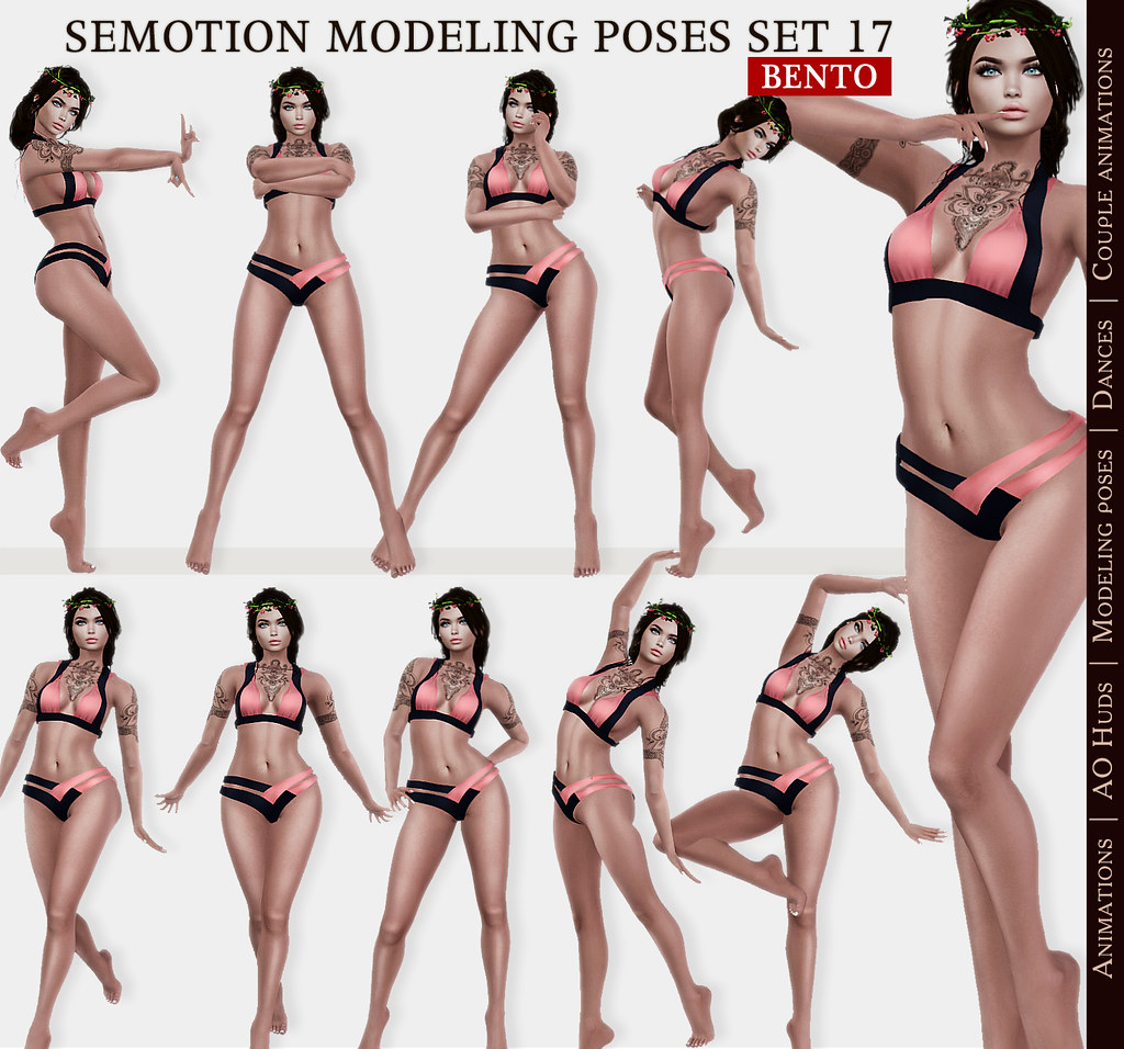 SEmotion Female Bento Modeling poses Set 17 – 10 static poses