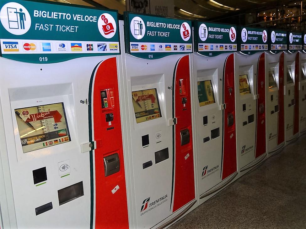 Biletomaty we Włoszech