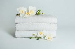 Handtücher mit Blüten