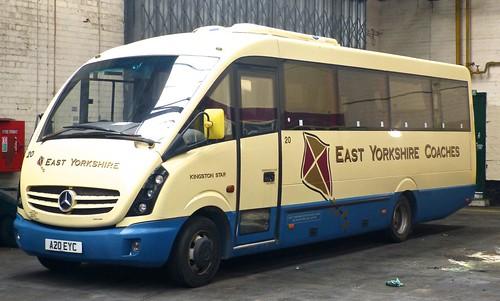 A20 EYC 'East Yorkshire Motor Services' No. 20 'East Yorkshire Coaches'. Mercedes-Benz 816D / Plaxton Cheetah 2 on Dennis Basford's railsroadsrunways.blogspot.co.uk'