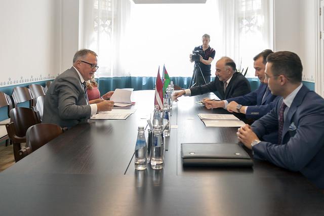A. Ašeradena tikšanās ar Azerbaidžānas ekonomikas ministra vietnieku Sahibu Mammadovu (Сахиб Али оглы Мамедов)