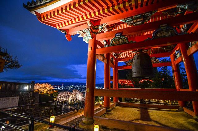 Kiyomizu-dera bell kyoto view