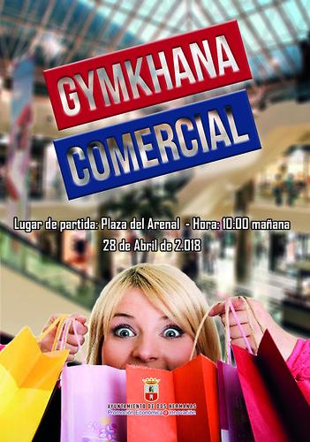 Cartel Gymkhana Comercial Ayuntamiento y Fenaco