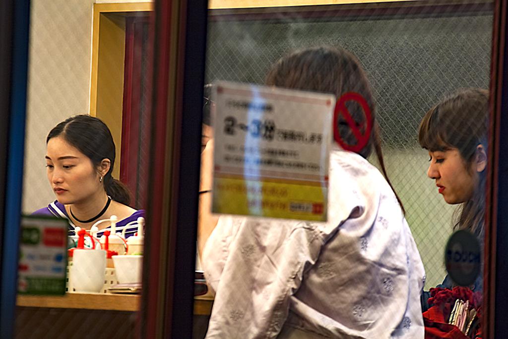 Two women in Yaesu restaurant--Tokyo