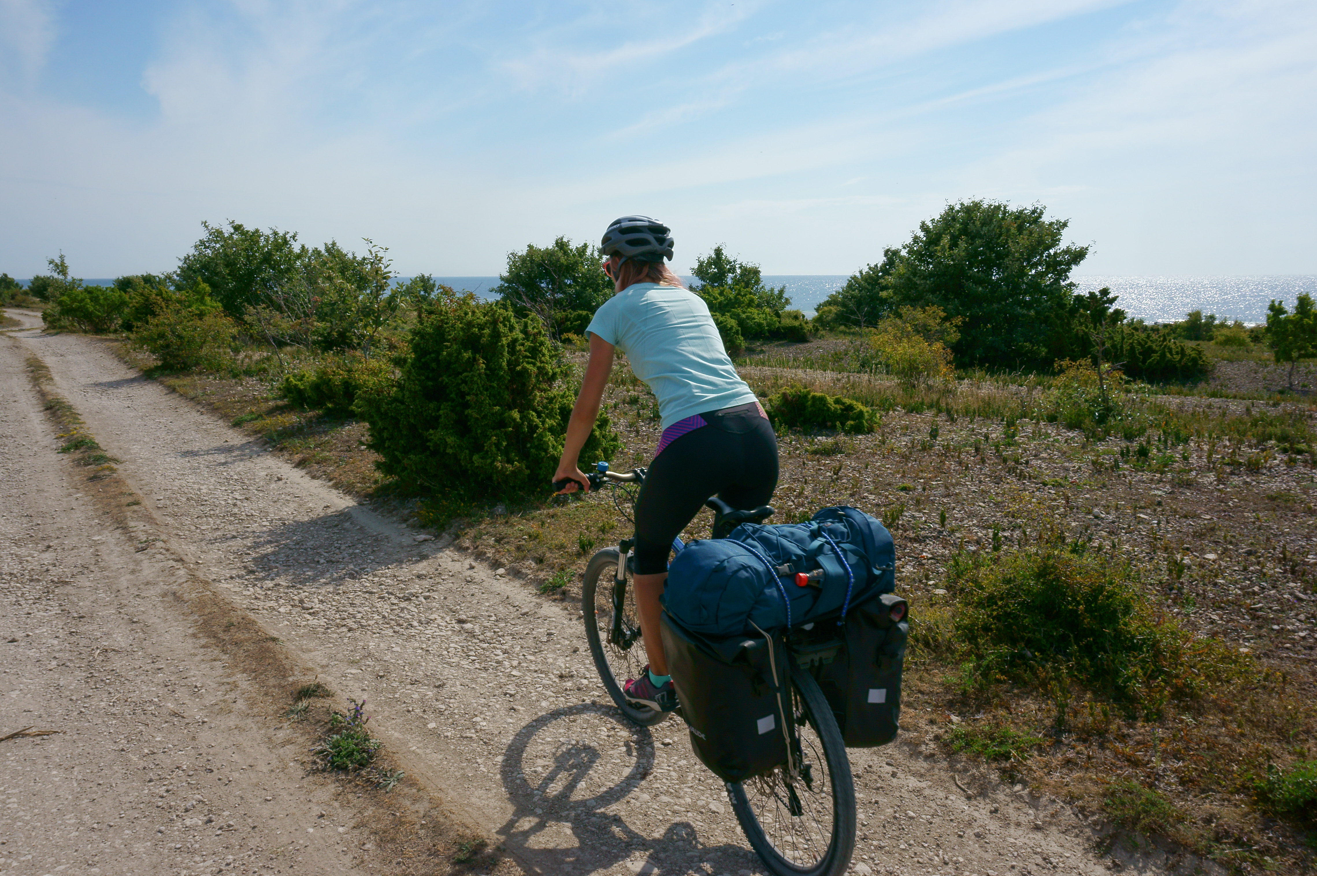 cycling to the southernmost point of Gotland