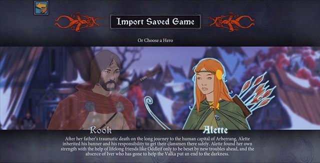 Die Banner Saga - Charakterauswahl