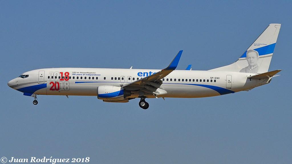 SP-ENX - Enter Air - Boeing 737-8Q8(WL) - PMI/LEPA