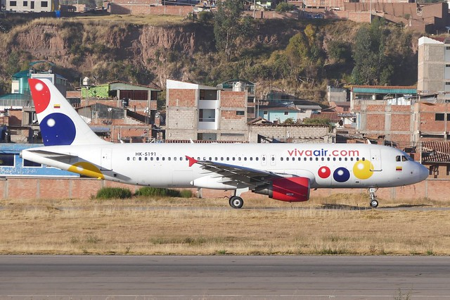 Airbus A320 200 viva air Peru HK-5191 CUZ Cusco Airport Peru 2018