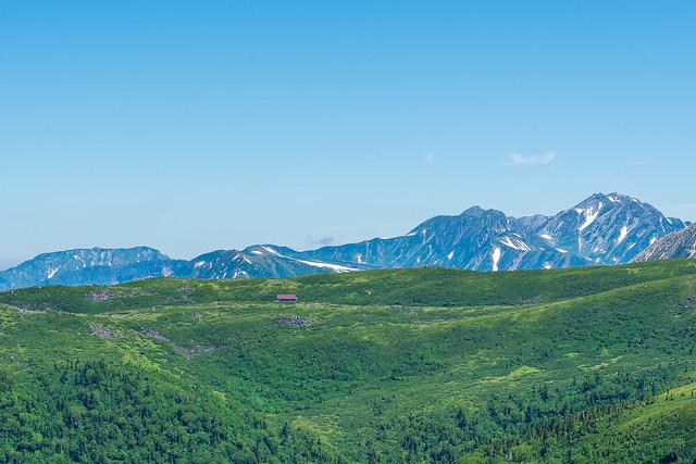 奥大日岳、剱、立山と雲ノ平山荘
