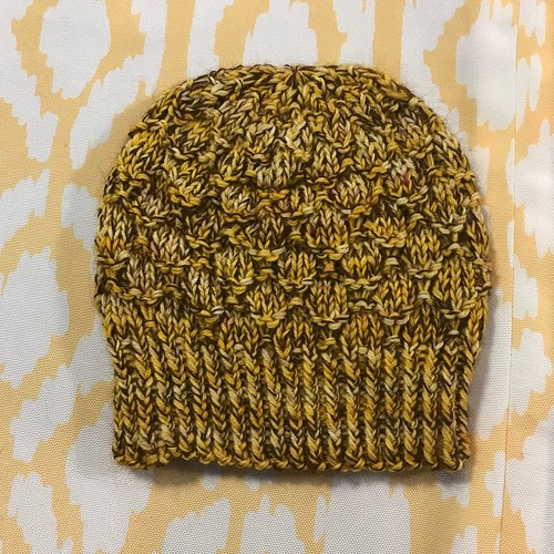 Another test knit beanie by Sandi!
