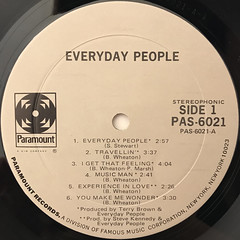 EVERYDAY PEOPLE:EVERYDAY PEOPLE(LABEL SIDE-A)
