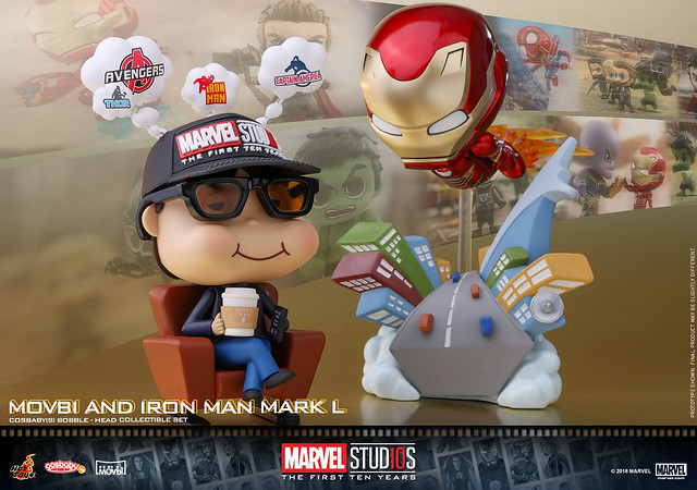 Hot Toys – COSB506 – 漫威工作室10週年【Movbi & 鋼鐵人馬克50】Marvel Studios: The First Ten Years- Movbi and Iron Man Mark L Cosbaby (S) Bobble-Head Set