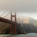 The Golden Gate Bridge In Fog by rubyquartzvisor