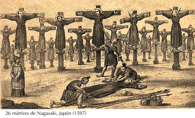 Martires de Nagasaki, 1597