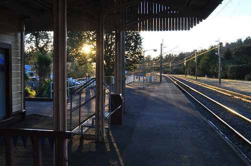 Ohakune station - looking towards Auckland