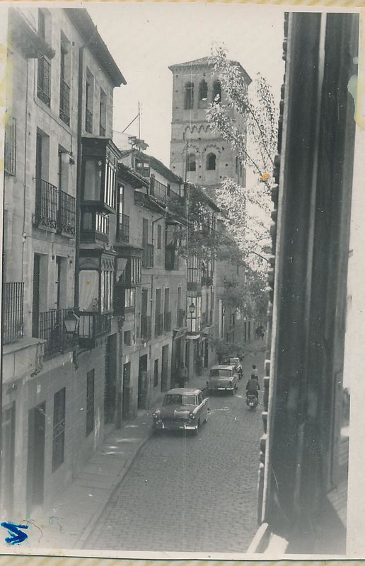 Calle de Santo Tomé en 1962. Fotografía de Julián C.T.