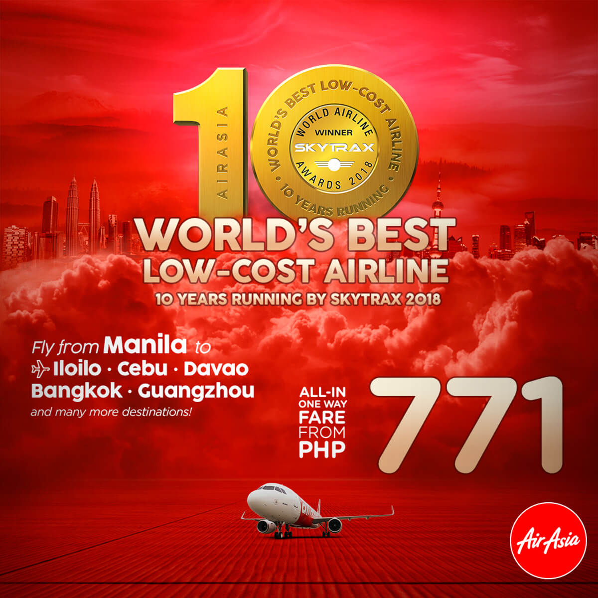 AirAsia Low Fare Promo - Word's Best Low-Cost Airline