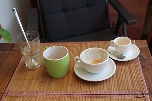 Tassenensemble nach Testung der Standardeinstellungen unseres Kaffeevollautomaten Caffeo® CI®