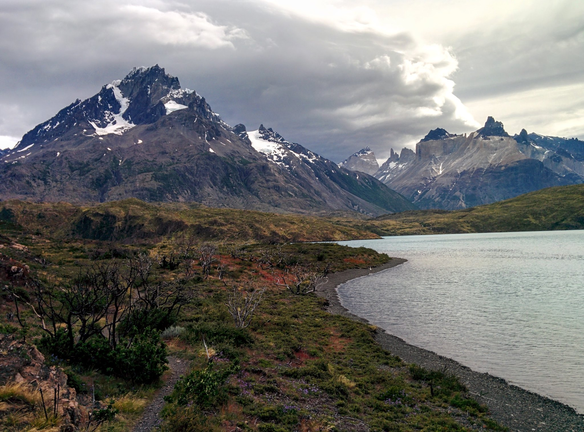 Cordillera Paine from the Western shore of Lago Pehoé