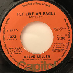 STEVE MILLER:FLY LIKE AN EAGLE(LABEL SIDE-A)