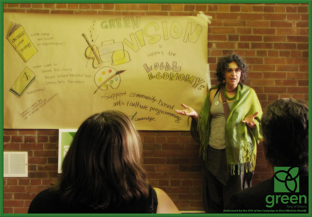 Michele presents her graphic rendition of the Green Vision