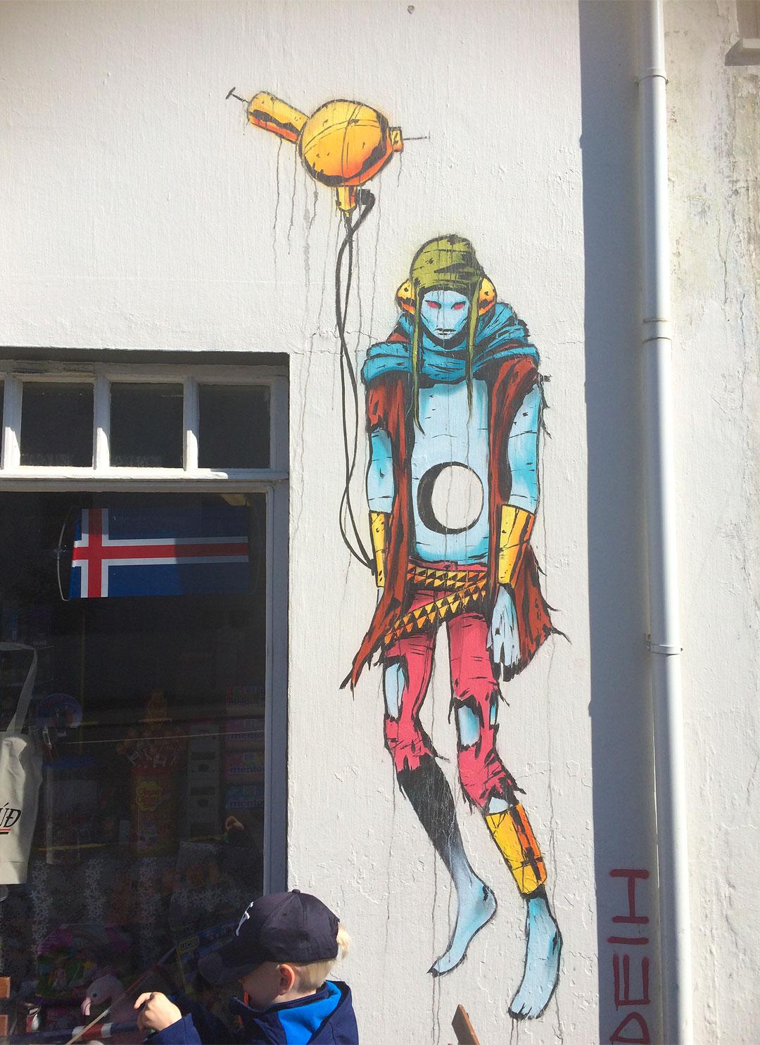 Cool graffiti in Reykjavik