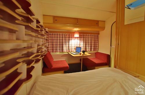 Huttenpalast Hotel Berlin- inside my caravan