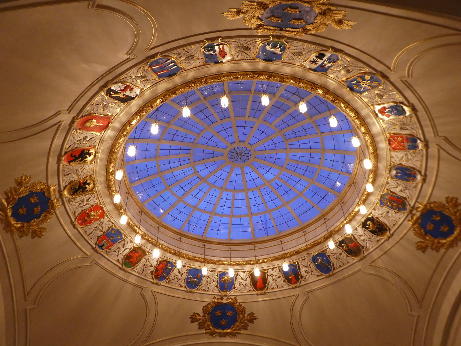 Glass Skylight of the Swedish Parliament's Grand Gallery