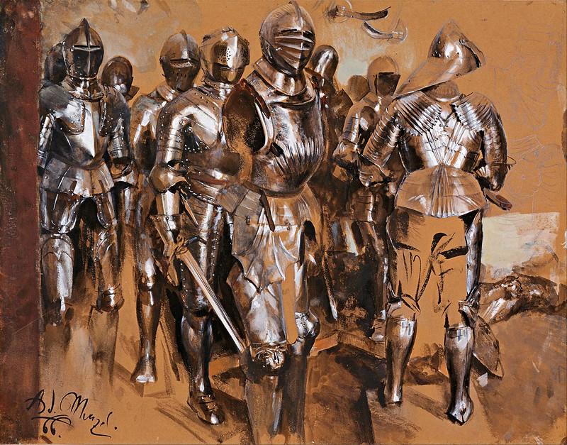 Adolf Menzel - Armor Chamber Fantasy (1866)