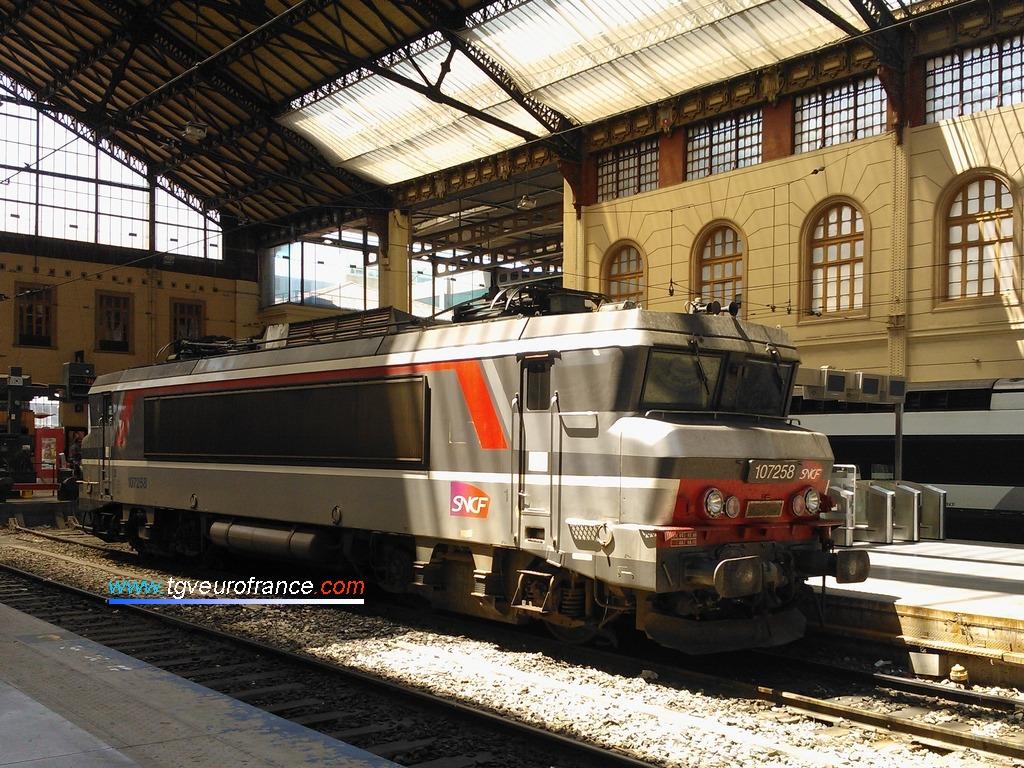 La locomotive monocourant BB7258 SNCF (série BB 7200 Alsthom)