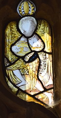 angel playing a lute with a plectrum (15th Century)