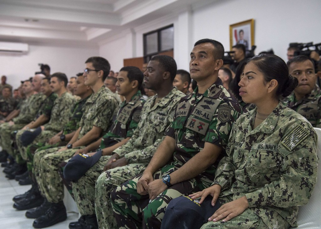 The U.S. Navy and Marine Corps with the Indonesian Navy commenced the 24th Cooperation Afloat Readiness and Training (CARAT) Indonesia exercise with the arrival of the dock landing ship USS Rushmore (LSD 47) with elements from 13th Marine Expeditionary Unit in Jakarta, Aug. 10.