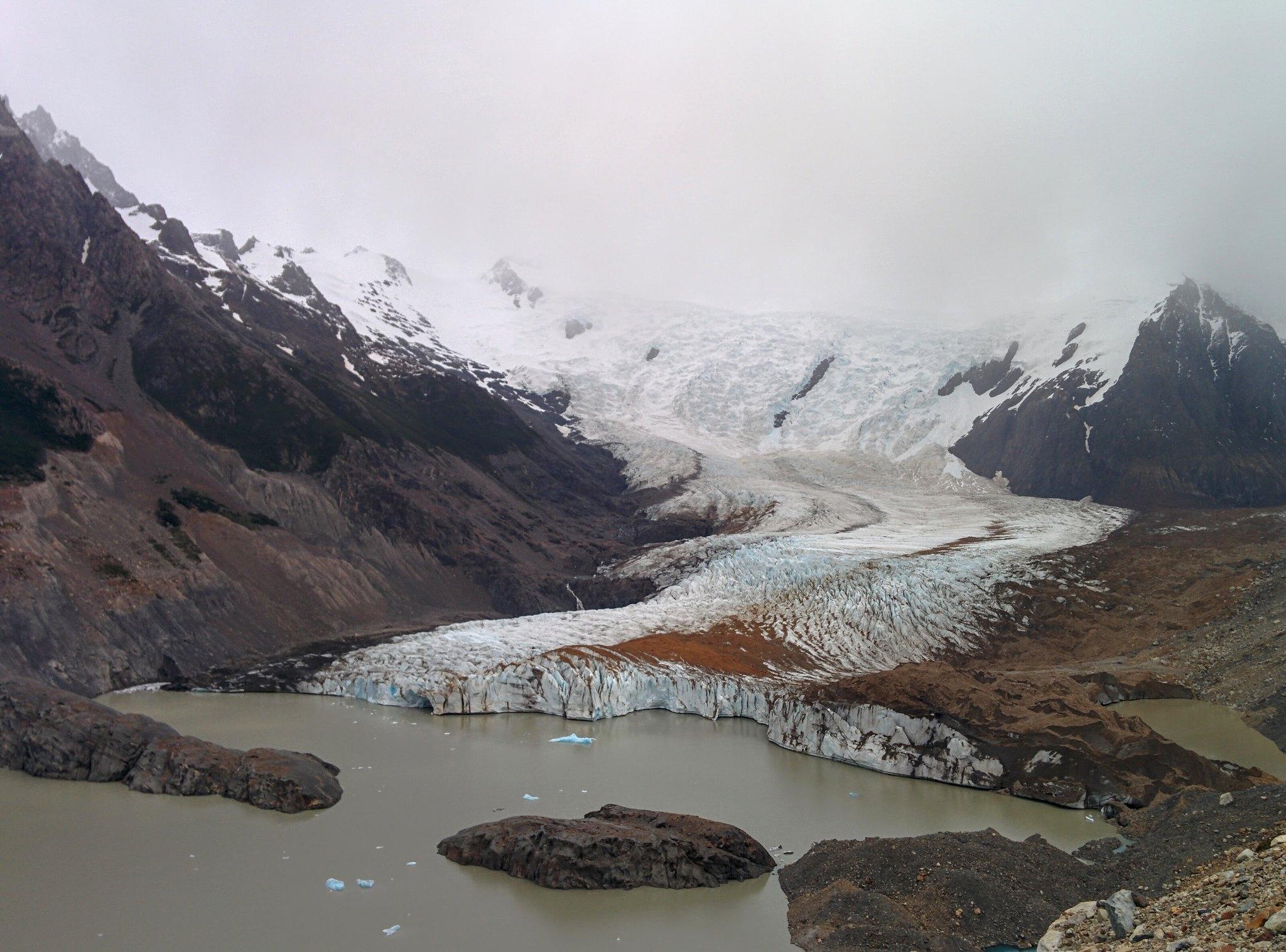 The glacier above Laguna Torres