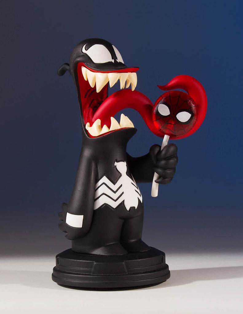 蜘蛛人臉的棒棒糖吃起來會很彼得嗎?!Gentle Giant Marvel Comics【猛毒】Venom Animated Statue