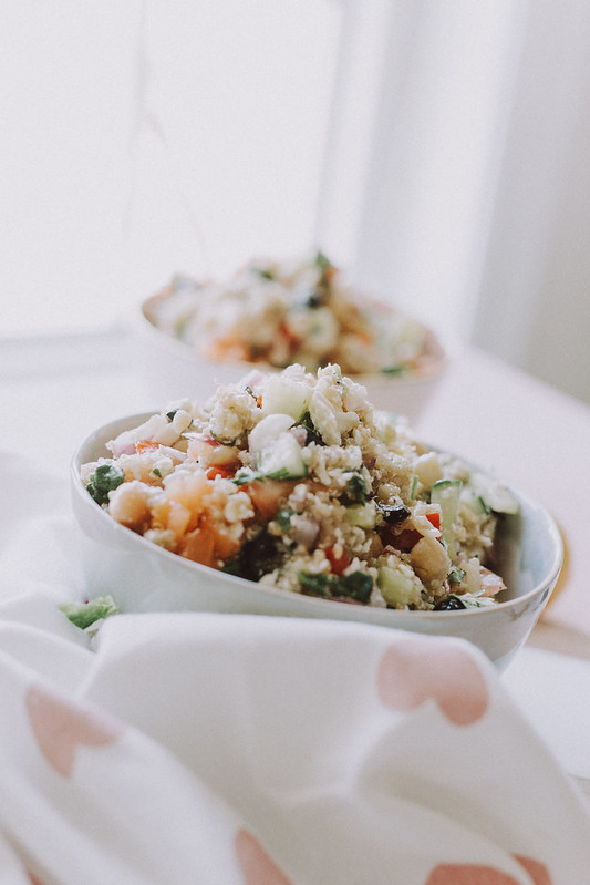 Vegan Mediterranean Salad with Quinoa Salad Dressing