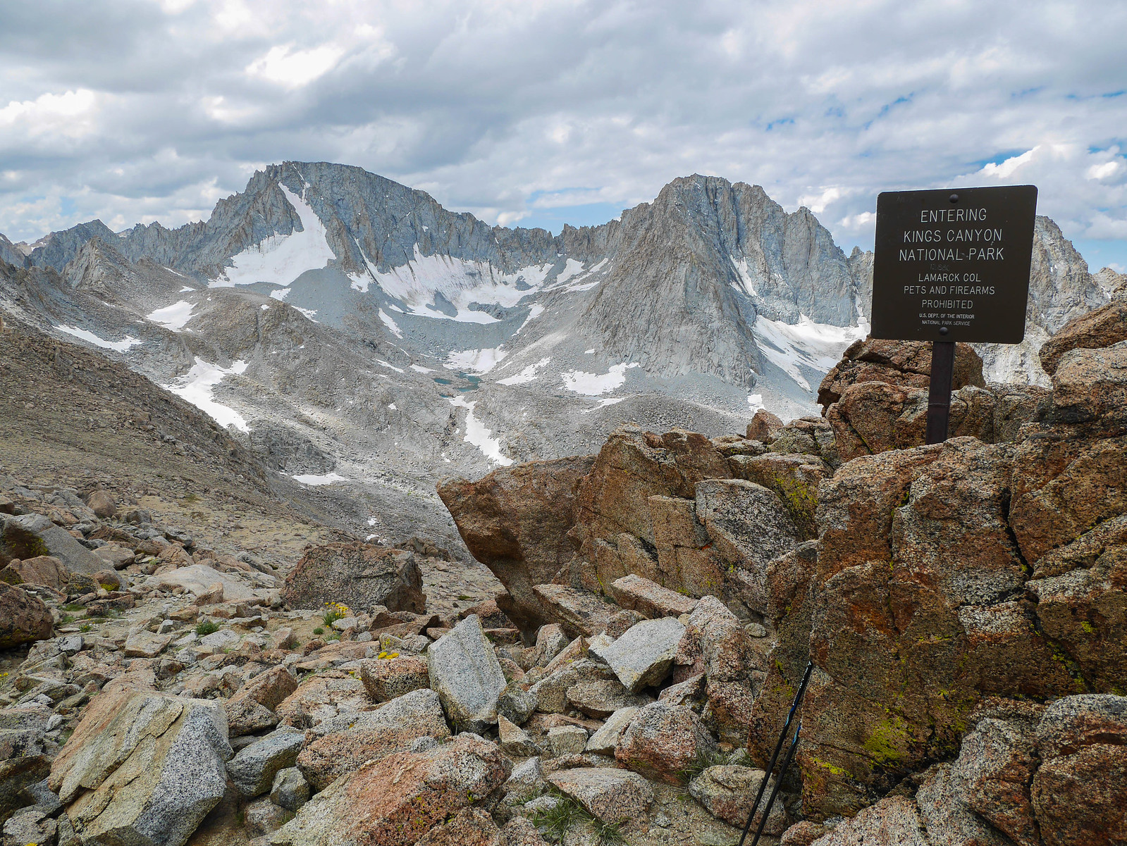 Looking south from Lamarck Col
