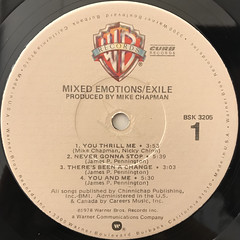 EXILE:MIXED EMOTIONS(LABEL SIDE-A)