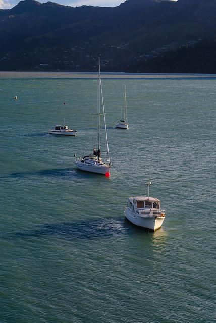 Winter boat shadows