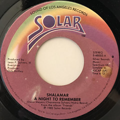 SHALAMAR:A NIGHT TO REMEMBER(LABEL SIDE-A)
