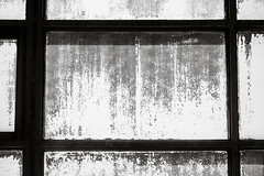 Chalked Up Window Pane