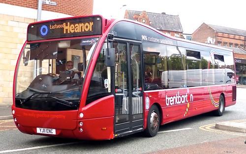 YJ11 ENC trentbarton No. 801. Optare Versa on Dennis Basford's railsroadsrunways.blogspot.co.uk'