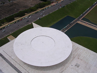 Chamber of Deputies from above, Brasilia