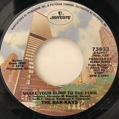 THE BAR-KAYS:SHAKE YOUR RUMP TO THE FUNK(LABEL SIDE-A)