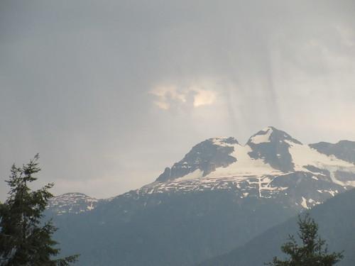 mountain revelstoke bc british columbia canada rain