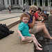 Cooling Off at the World War II Memorial by The.Mickster