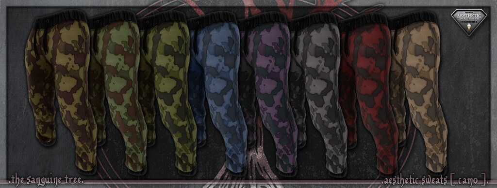 [ new release – aesthetic sweats [ camo ]