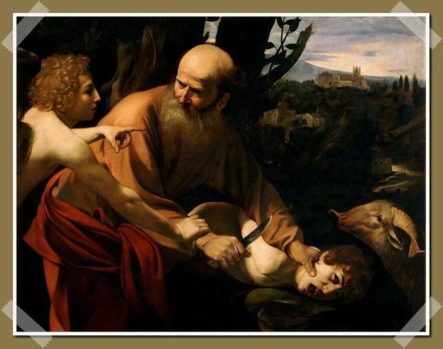 """Sacrifice of Isaac"" by Caravaggio (1603)"
