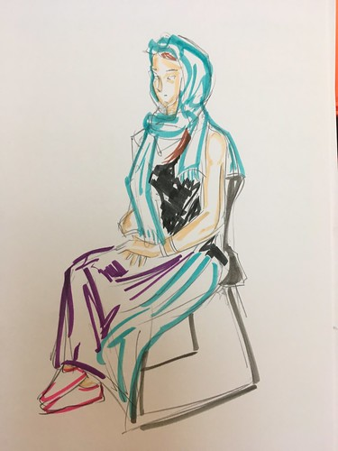 Fibralo colored figure drawing sketches 1 and 5 min poses