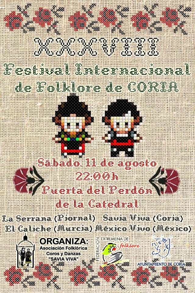 El Agosto Turístico también acogerá el XXXVIII Festival Internacional de Folclore que se celebrará el sábado 11 de agosto