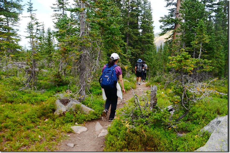 Going down from Columbine Lake